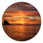 Sunset Sea Afterglow Boot Magnet 5  (Round) Front