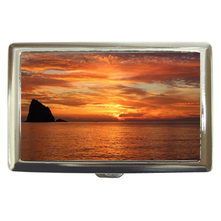 Sunset Sea Afterglow Boot Cigarette Money Cases