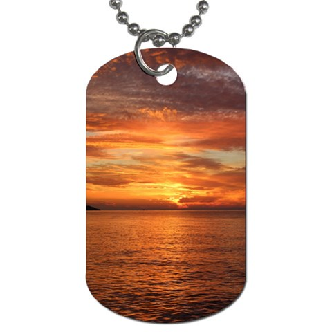 Sunset Sea Afterglow Boot Dog Tag (Two Sides)
