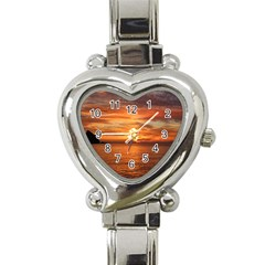 Sunset Sea Afterglow Boot Heart Italian Charm Watch