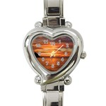 Sunset Sea Afterglow Boot Heart Italian Charm Watch Front