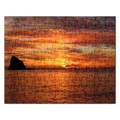Sunset Sea Afterglow Boot Rectangular Jigsaw Puzzl