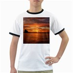 Sunset Sea Afterglow Boot Ringer T-Shirts Front