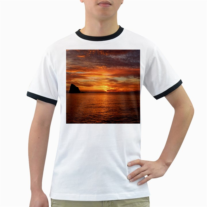 Sunset Sea Afterglow Boot Ringer T-Shirts