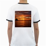Sunset Sea Afterglow Boot Ringer T-Shirts Back