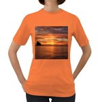 Sunset Sea Afterglow Boot Women s Dark T-Shirt Front