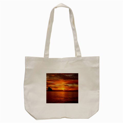 Sunset Sea Afterglow Boot Tote Bag (Cream)