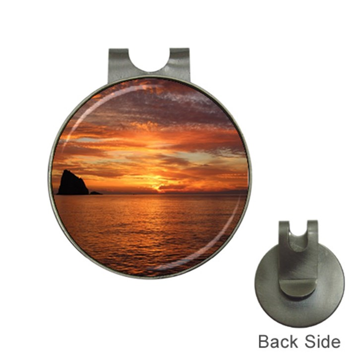 Sunset Sea Afterglow Boot Hat Clips with Golf Markers