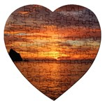 Sunset Sea Afterglow Boot Jigsaw Puzzle (Heart) Front