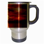 Sunset Sea Afterglow Boot Travel Mug (Silver Gray) Right