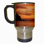 Sunset Sea Afterglow Boot Travel Mugs (White) Left