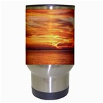 Sunset Sea Afterglow Boot Travel Mugs (White) Center