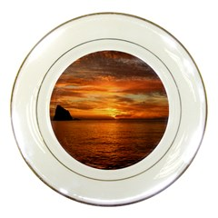 Sunset Sea Afterglow Boot Porcelain Plates