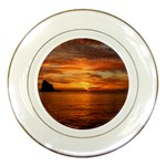 Sunset Sea Afterglow Boot Porcelain Plates Front