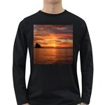 Sunset Sea Afterglow Boot Long Sleeve Dark T-Shirts Front