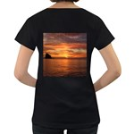 Sunset Sea Afterglow Boot Women s Loose-Fit T-Shirt (Black) Back