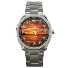 Sunset Sea Afterglow Boot Sport Metal Watch