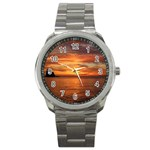 Sunset Sea Afterglow Boot Sport Metal Watch Front