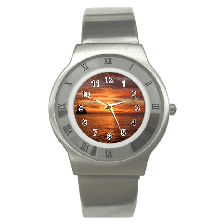 Sunset Sea Afterglow Boot Stainless Steel Watch