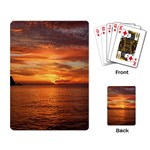 Sunset Sea Afterglow Boot Playing Card Back