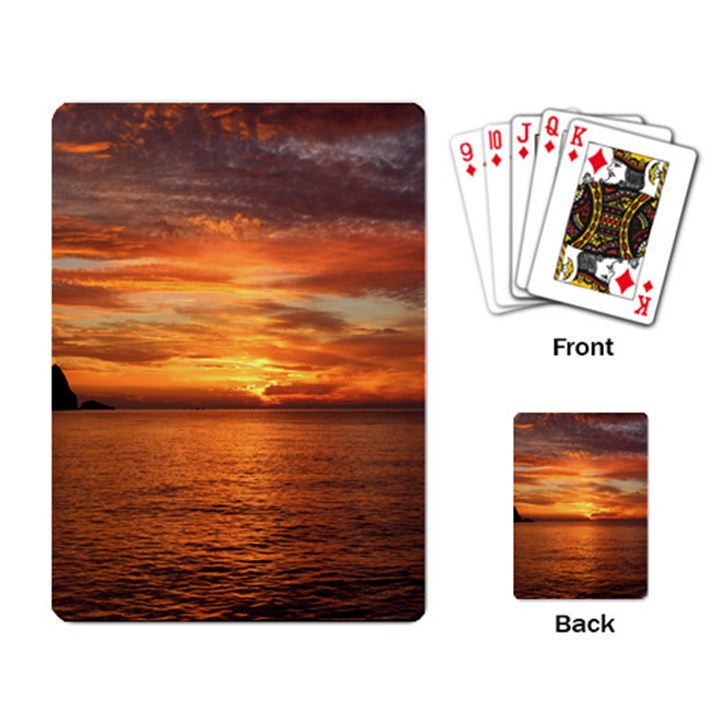 Sunset Sea Afterglow Boot Playing Card