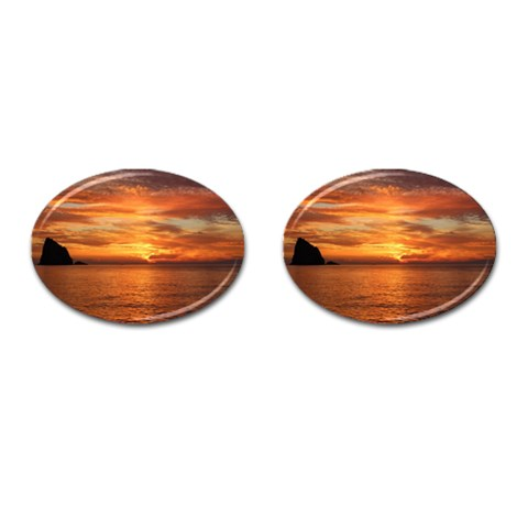 Sunset Sea Afterglow Boot Cufflinks (Oval)