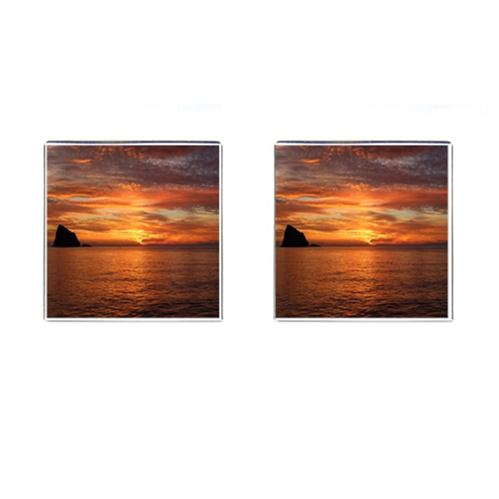 Sunset Sea Afterglow Boot Cufflinks (Square)