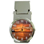Sunset Sea Afterglow Boot Money Clip Watches Front