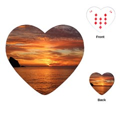 Sunset Sea Afterglow Boot Playing Cards (Heart)