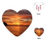 Sunset Sea Afterglow Boot Playing Cards (Heart)  Front