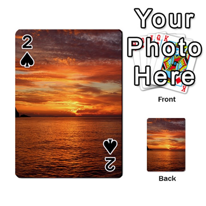 Sunset Sea Afterglow Boot Playing Cards 54 Designs