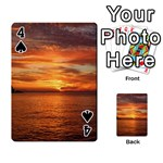 Sunset Sea Afterglow Boot Playing Cards 54 Designs  Front - Spade4