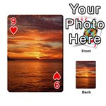 Sunset Sea Afterglow Boot Playing Cards 54 Designs  Front - Heart9