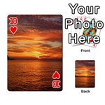 Sunset Sea Afterglow Boot Playing Cards 54 Designs  Front - Heart10