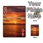 Sunset Sea Afterglow Boot Playing Cards 54 Designs  Front - Diamond4