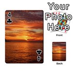 Sunset Sea Afterglow Boot Playing Cards 54 Designs  Front - Club4