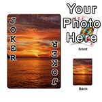 Sunset Sea Afterglow Boot Playing Cards 54 Designs  Front - Joker1