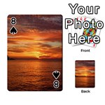 Sunset Sea Afterglow Boot Playing Cards 54 Designs  Front - Spade8