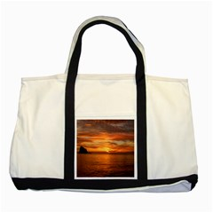 Sunset Sea Afterglow Boot Two Tone Tote Bag