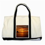 Sunset Sea Afterglow Boot Two Tone Tote Bag Front