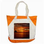 Sunset Sea Afterglow Boot Accent Tote Bag Front