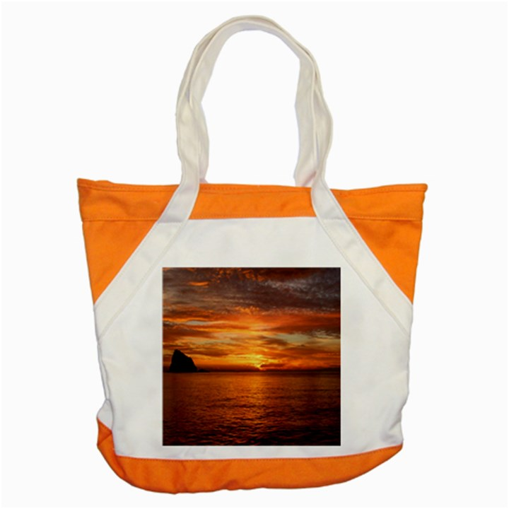 Sunset Sea Afterglow Boot Accent Tote Bag