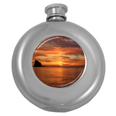 Sunset Sea Afterglow Boot Round Hip Flask (5 oz)