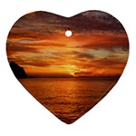 Sunset Sea Afterglow Boot Heart Ornament (2 Sides) Front