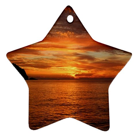Sunset Sea Afterglow Boot Star Ornament (Two Sides)