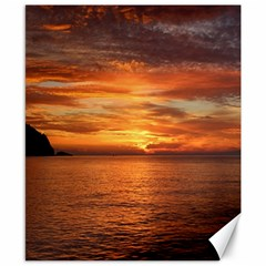Sunset Sea Afterglow Boot Canvas 8  x 10
