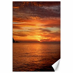 Sunset Sea Afterglow Boot Canvas 12  x 18