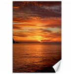 Sunset Sea Afterglow Boot Canvas 12  x 18   18 x12 Canvas - 1
