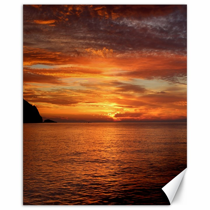 Sunset Sea Afterglow Boot Canvas 16  x 20