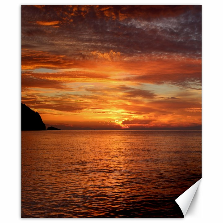 Sunset Sea Afterglow Boot Canvas 20  x 24